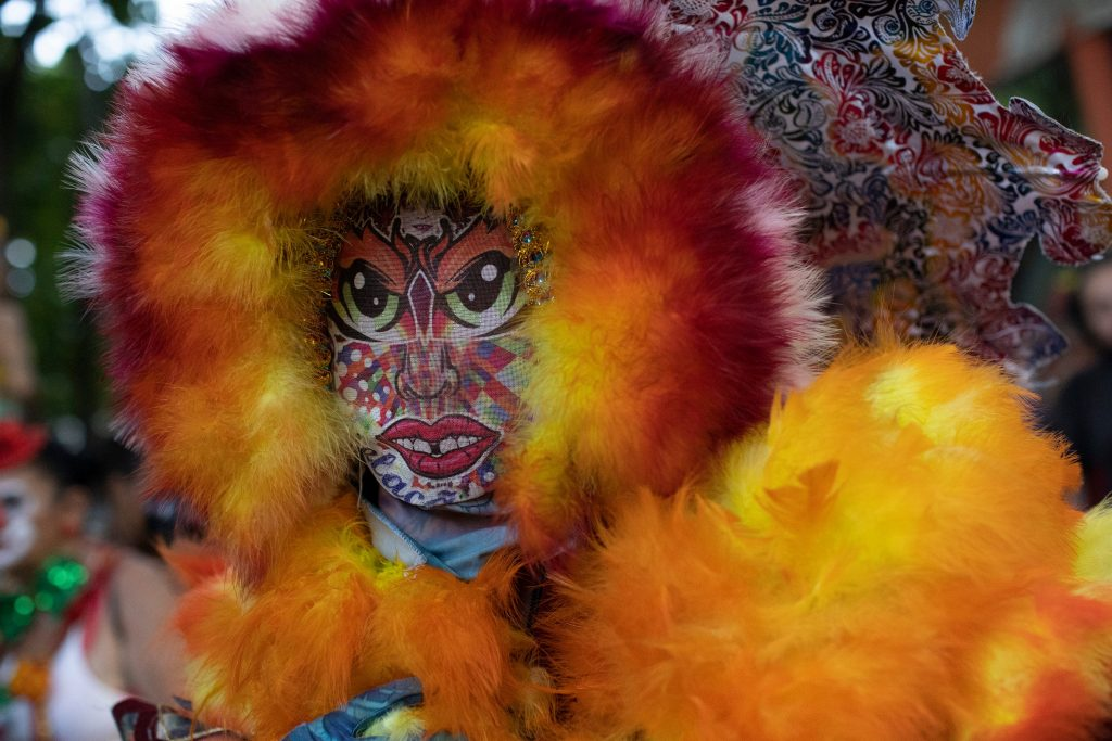 See colorful costumes, parade moments