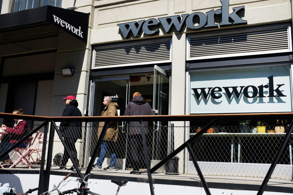WeWork memo offers employees $100 a day during coronavirus lockdown