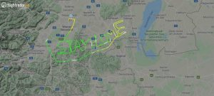 Pilot writes 'Stay home' in sky over Austria